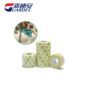 Printed veterinary wrap bandage for dog